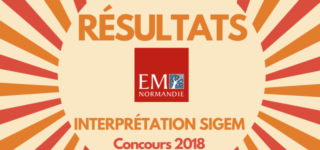 Interpréter son rang EM Normandie 2018