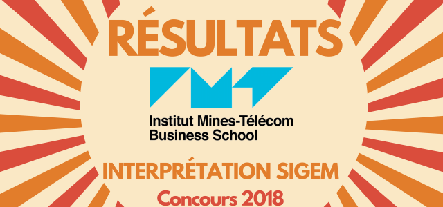 Interpréter son rang IMT BS 2018