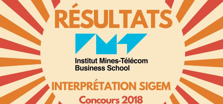 Interpréter son rang IMT BS 2018