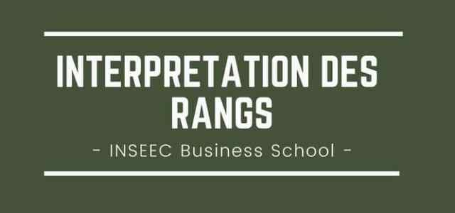 Interpréter son rang INSEEC Business School 2018