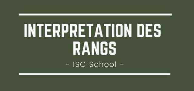 Interpréter son rang ISC Business School