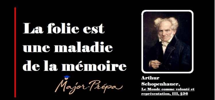 Schopenhauer, La folie est une maladie de la mémoire