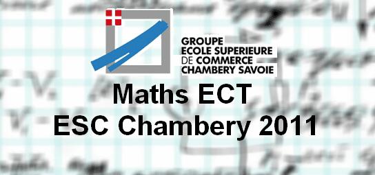 Sujet Maths ECT ESC 2011