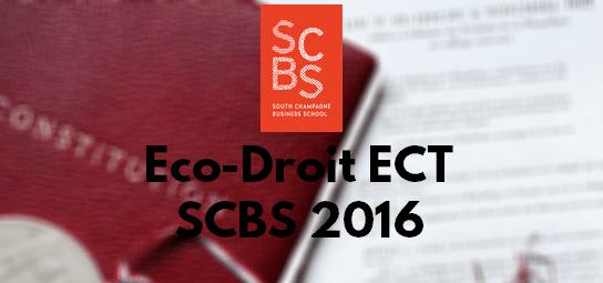 Eco Droit ESC 2016 – Sujet