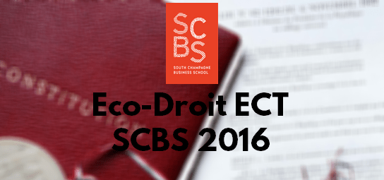 Eco Droit ESC 2016 – Rapport de Jury