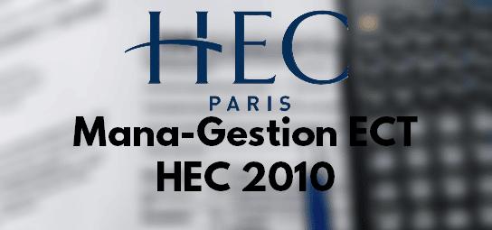 Rapport Management Gestion HEC 2010