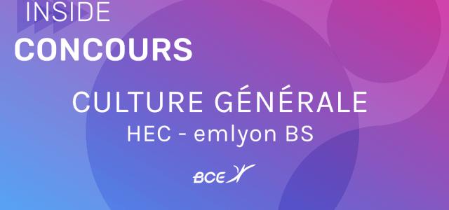 Préparer l'épreuve de culture générale HEC / emlyon 2021