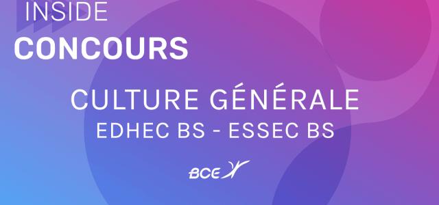 Culture générale EDHEC/ESSEC 2020 – Sujet