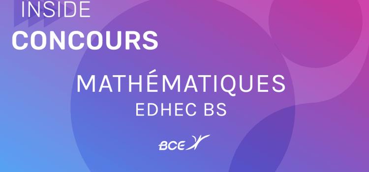 Sujet de maths EDHEC 2019 ECE
