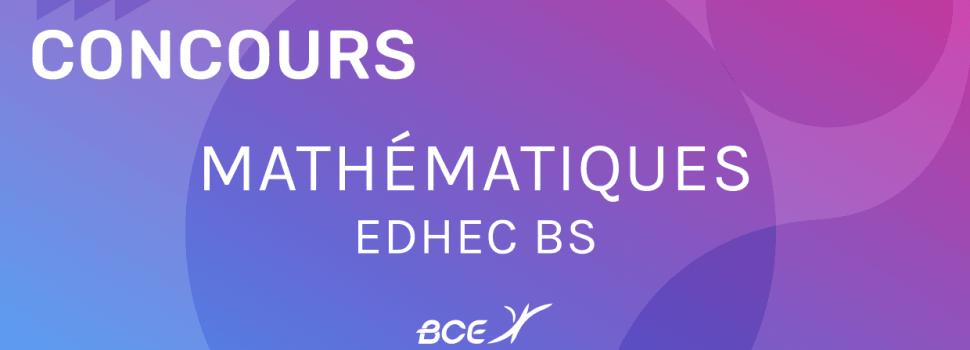 maths EDHEC 2020