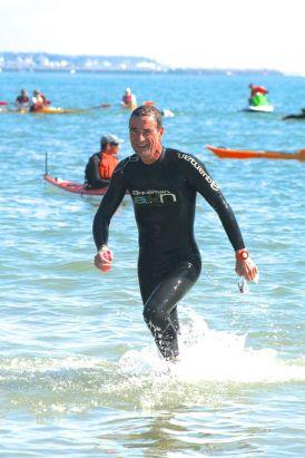 Christophe Germain participe au triathlon Audencia -La Baule chaque année.