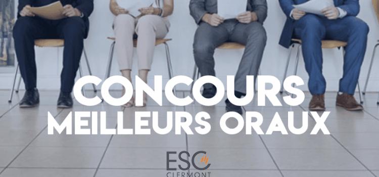 Concours des meilleurs oraux 2019 – ESC Clermont