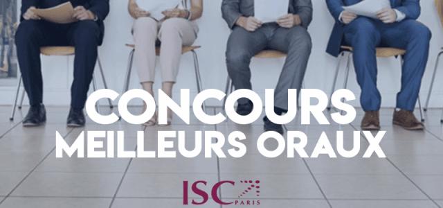 Concours des meilleurs oraux 2019 – ISC Paris