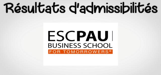 Résultats d'admissibilités ESC Pau 2019