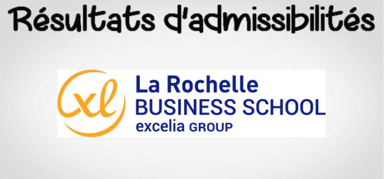Résultats d'admissibilités La Rochelle BS 2019