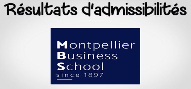 Résultats d'admissibilités Montpellier BS 2019
