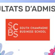 Résultats d'admission SCBS 2019