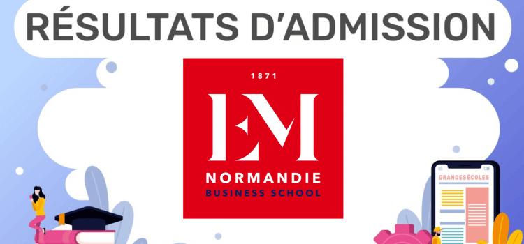 Résultats d'admission EM Normandie 2020