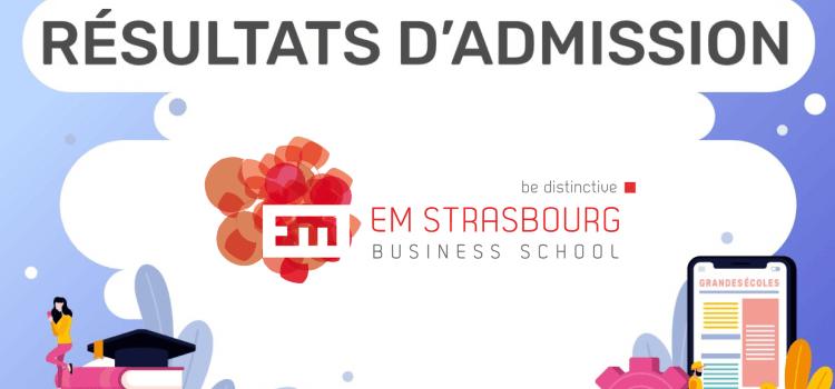 Résultats d'admission EM Strasbourg 2019