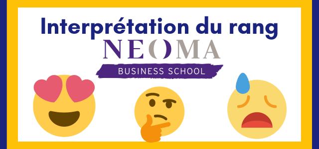 Interpréter son rang NEOMA BS 2019