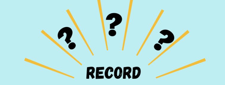Que signifie « record » ?