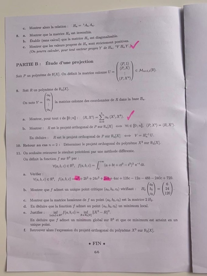 épreuve maths emlyon ECS 2020
