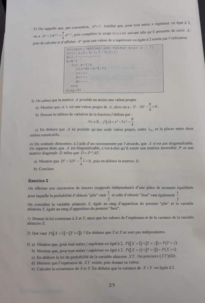 sujet maths escp 2020 2