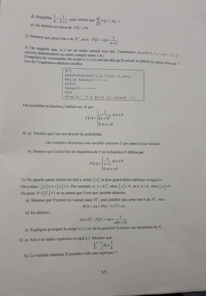 maths ESCP 2020 5