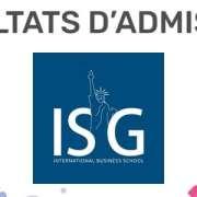 ERRATUM : Résultats d'admission ISG 2020