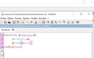 fonctions random Scilab