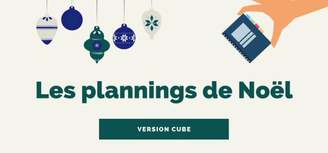 Le planning des vacances de Noël en prépa – Version cube