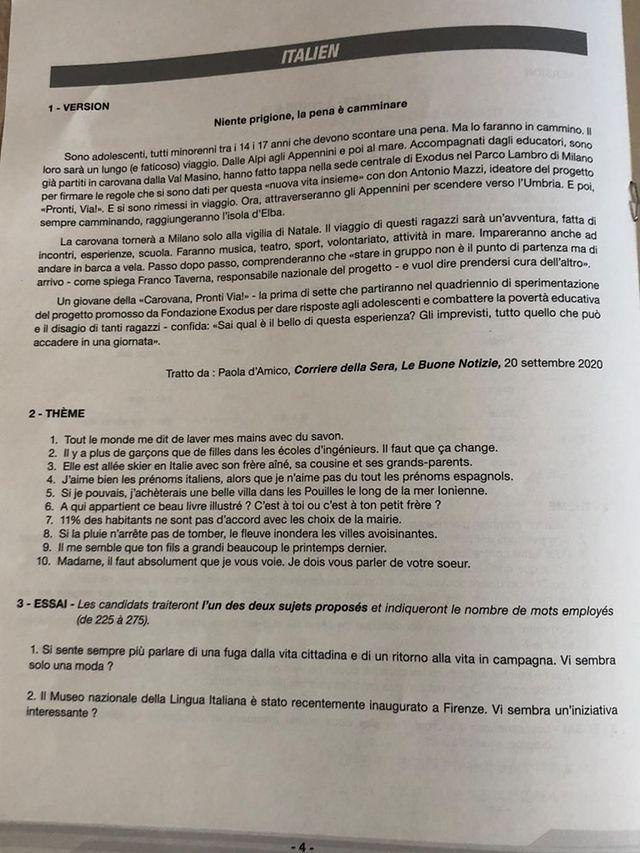 sujet langues rares LV2 2021 Ecricome