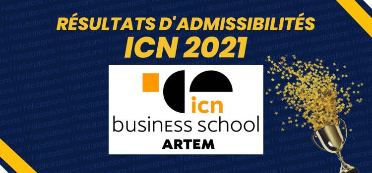 Résultats d'admissibilités ICN 2021