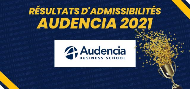 Résultats d'admissibilités Audencia 2021