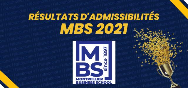 Résultats d'admissibilités MBS 2021