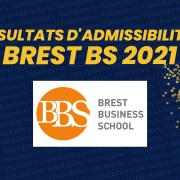 Résultats d'admissibilités Brest Business School (BBS) 2021