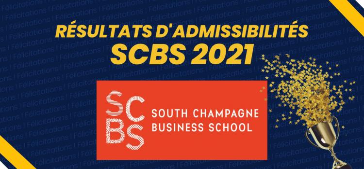 Résultats d'admissibilités SCBS 2021