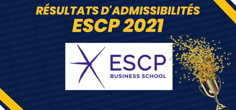 Résultats d'admissibilités ESCP 2021
