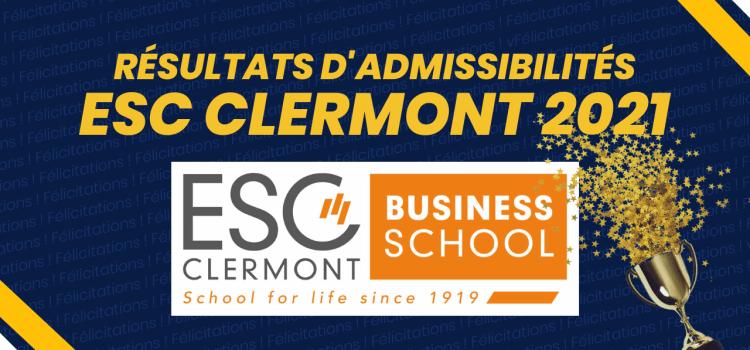 Résultats d'admissibilités ESC Clermont 2021