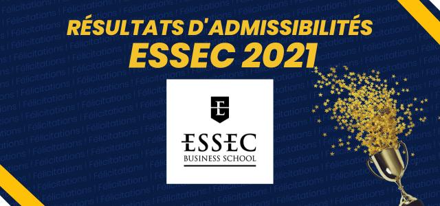 Résultats d'admissibilités ESSEC BS 2021