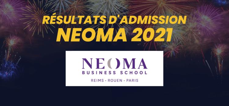 Résultats d'admission NEOMA 2021