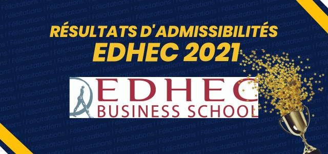 Résultats d'admissibilités EDHEC BS 2021