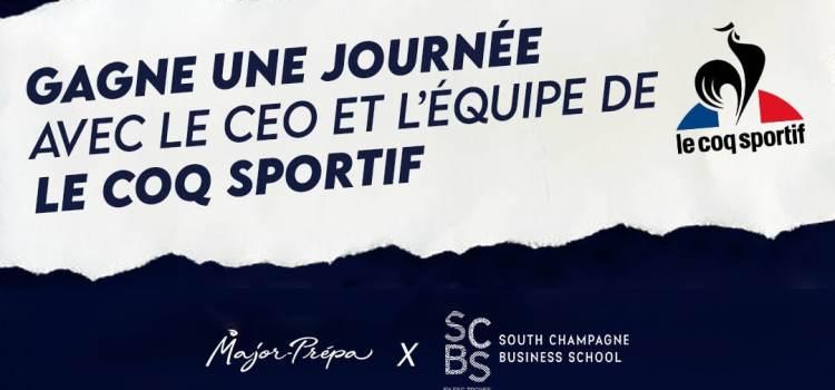 Concours SCBS x Major-Prépa: Passe une journée avec le CEO du Coq Sportif