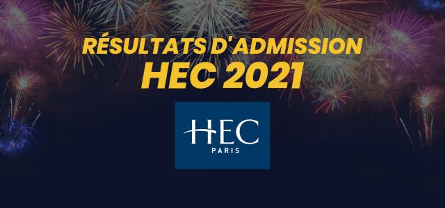 Résultats d'admission HEC 2021