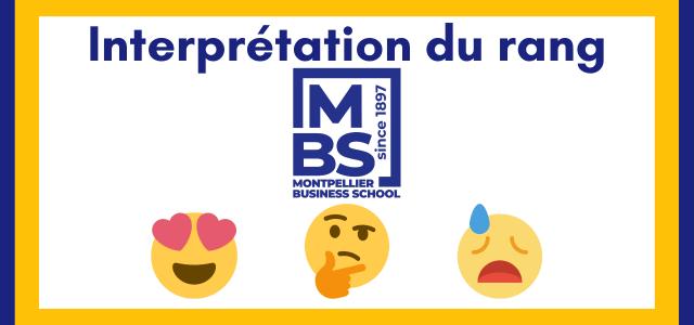 Interpréter son rang Montpellier BS 2021