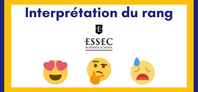 Interpréter son rang ESSEC 2021