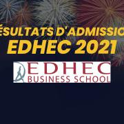 Résultats d'admission EDHEC 2021
