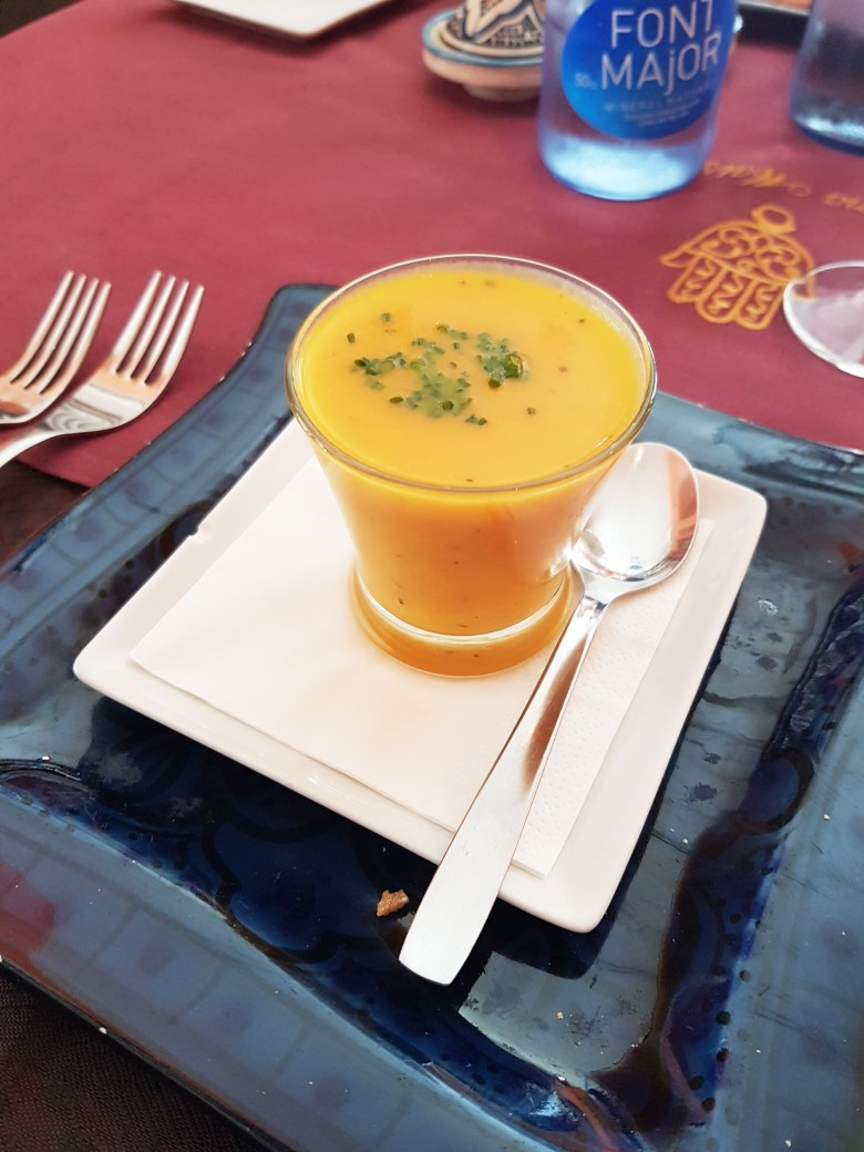 Delicious carrot, orange and pumpkin soup