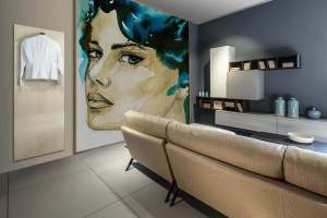 Hangers in a living room Majordomo Wall Hangers
