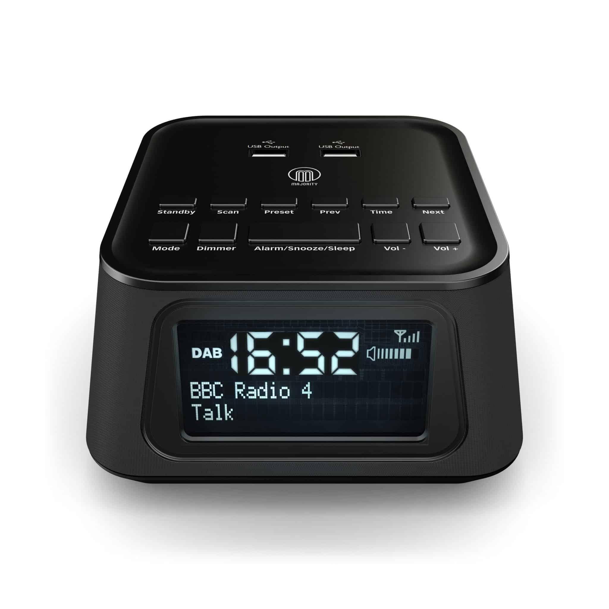 94546ab40e64 Majority Madingley Hall DAB Alarm Clock Radio